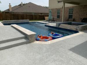 League City TX gunite pool resurfacing cost