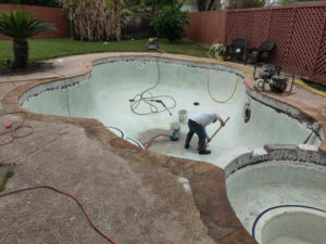 Pearland TX gunite pool resurfacing cost