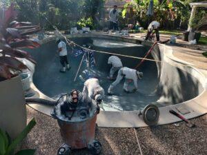 River Oaks TX Pool Replastering