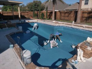 The Woodlands TX Pool Plaster
