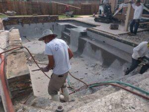 Seabrook TX pool plaster repair