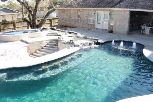 League City Texas gunite swimming pool