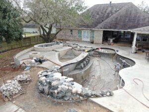 League City TX gunite pool